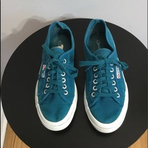 Superga Teal Lace Up Sneakers